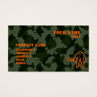 Camo Hockey Business Card