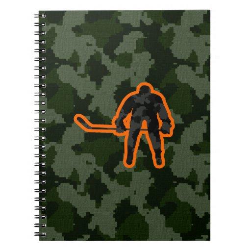 Camo Hockey Notebooks