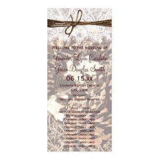 Camo Hunting Theme Country Wedding Programs Rack Card Design