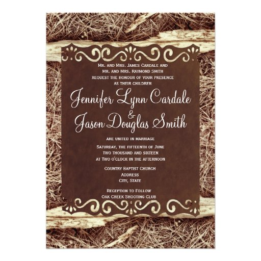 Camo hunting vintage paper wedding invitation zazzle