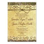 Camo Hunting Vintage Paper Wedding Invitation