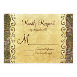 Camo Hunting Vintage Paper Wedding RSVP Cards Personalized Announcement