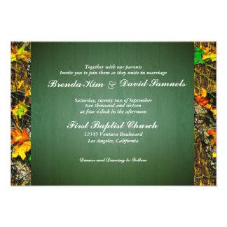Camo Hunting Wood Wedding Invitation