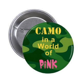 Camo in Pink Button