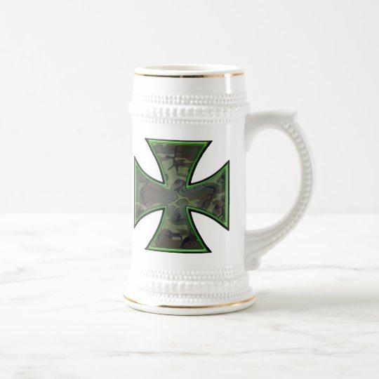 Camo Iron Cross Beer Stein