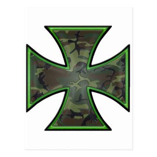 Camo Iron Cross Postcard