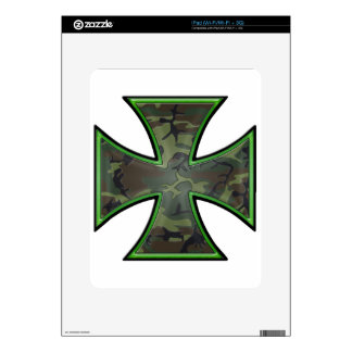 Camo Iron Cross Decals For The iPad