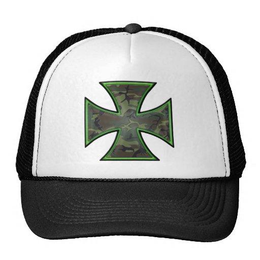 Camo Iron Cross Trucker Hat