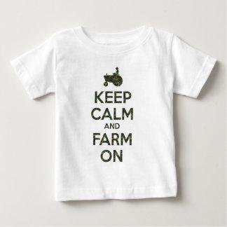 Camo Keep Calm and Farm On Infant T-shirt