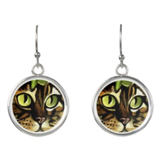 Camo Kitty Earrings