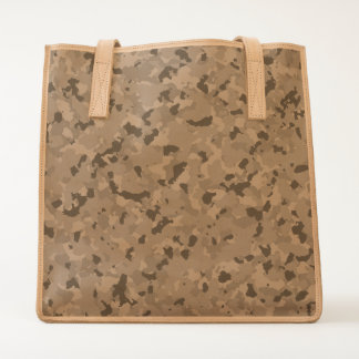 Camo Leather Tote