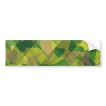 Camo Leaves Camouflage Pattern Gifts Bumper Sticker