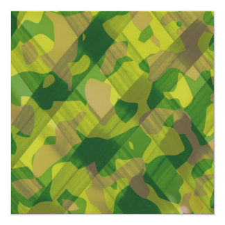 Camo Leaves Camouflage Pattern Gifts 5.25x5.25 Square Paper Invitation Card