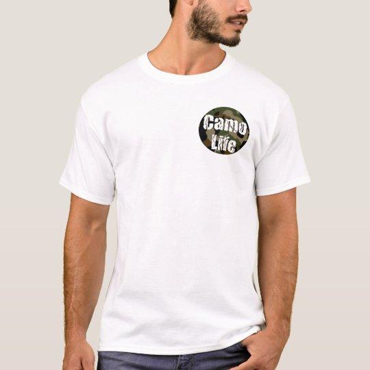 Camo Life Logo and Motto T-Shirt