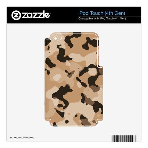 Camo marrón claro; Camuflaje iPod Touch 4G Skin
