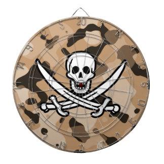Camo marrón claro; Pirata alegre de Rogelio Tabla Dardos