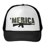 Camo 'MERICA Rifle Hat Trucker Hat