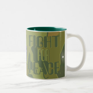 Camo Militant Pacifists for Peace Mug