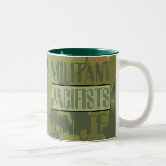 Camo Militant Pacifists Unite Mug