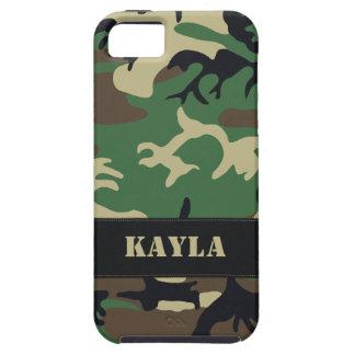 Camo militar adaptable iPhone 5 carcasas