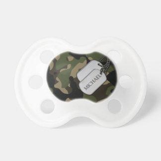 Camo militar personalizado chupete de bebé
