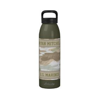 Camo Military Name Liberty Bottle Water Bottles