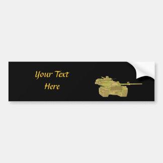 Camo Military Tank Design Bumper Sticker