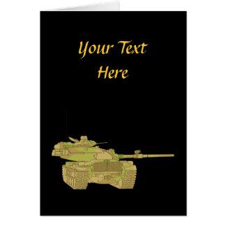 Camo Military Tank Design Greeting Card