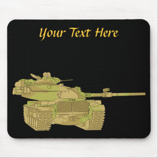 Camo Military Tank Design Mouse Pad