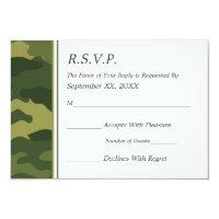 Camo Military Wedding RSVP 3.5x5 Paper Invitation Card (<em>$1.91</em>)