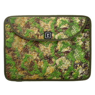 Camo Moss Rust Aged Grunge Old Texture MacBook Pro Sleeve