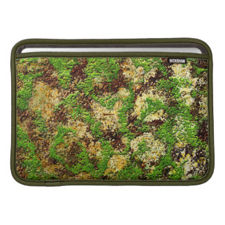 Camo Moss Rust Aged Grunge Old Texture MacBook Sleeve