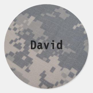 Camo name sticker