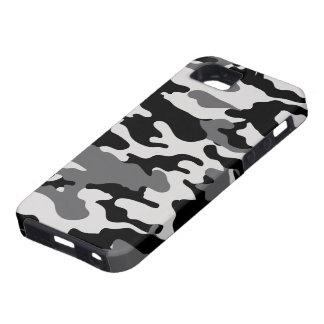 Camo negro iPhone 5 carcasa