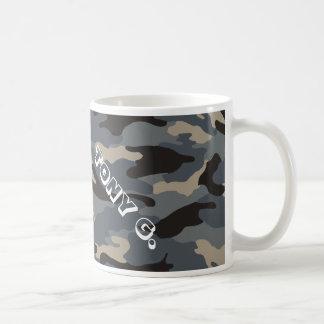 camo negro taza de café