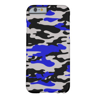 Camo negro y azul - caso del iPhone 6