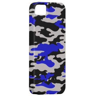 Camo negro y azul - iPhone 5 iPhone 5 Carcasa