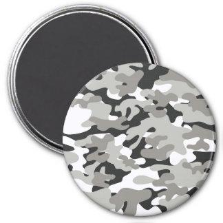 Camo negro y gris imán redondo 7 cm