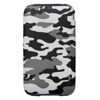 CAMO NEGROS - Caja de la casamata Tough iPhone 3 Cárcasas