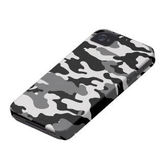 CAMO NEGROS - Caja intrépida de la casamata de iPhone 4 Case-Mate Cobertura