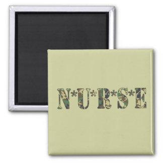 Camo Nurse Magnet