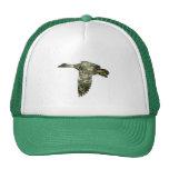 Camo - pato del pato silvestre en vuelo gorra