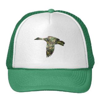 Camo - pato del pato silvestre en vuelo gorros