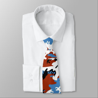 Camo patriótico corbatas