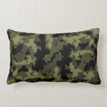 Camo Pattern Lumbar Pillow