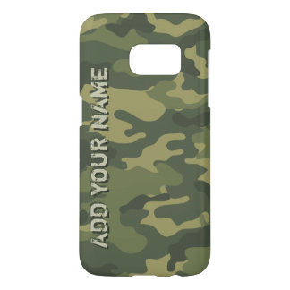 Camo Pattern - Personalize with Your Name Samsung Galaxy S7 Case