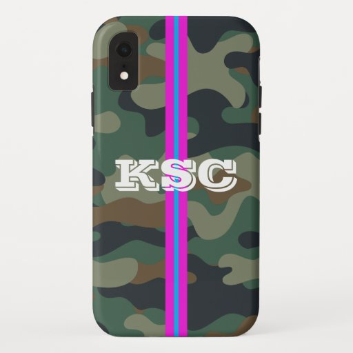 Camo Pattern Phone Case with Pink