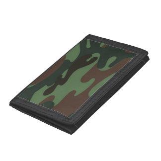 Camo Pattern trifold nylon wallet