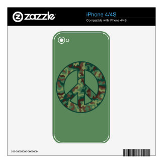 Camo Peace Decal For The iPhone 4S