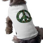 Camo Peace Dog T Shirt